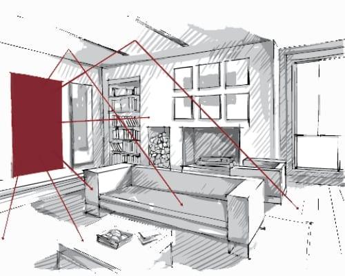 HeatXL tekening infrarood panelen